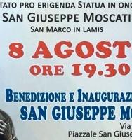 Mercoledì 8 agosto la benedizione e l'inaugurazione della statua di San Giuseppe Moscati