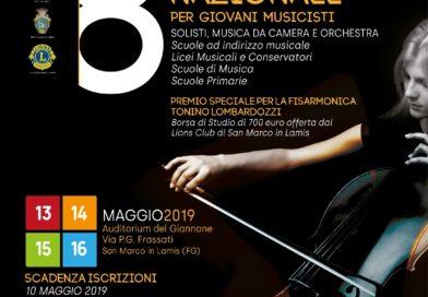 """""""Santa Cecilia"""", al via il concorso nazionale per giovani musicisti"""