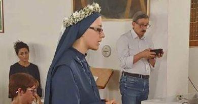 Rignano, festa grande per la Professione Perpetua di Suor Rosalba