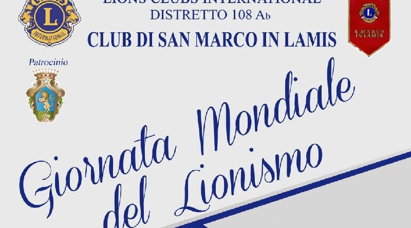Lunedì 27/1 la giornata mondiale del Lionismo, evento anche a San Marco in Lamis