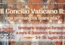 """""""Il Concilio Vaticano II: una primavera mancata?"""", se ne parlerà in un seminario a San Matteo"""
