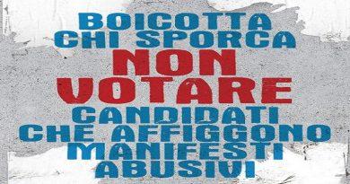 Elezioni comunali, torna il manifesto selvaggio