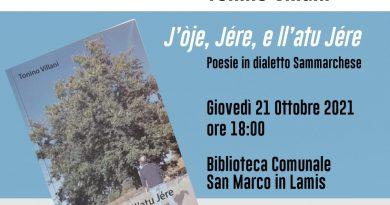 "Presentazione del volume di poesie dialettali ""J'òje, jére, e ll'atu jére"" di Tonino Villani"